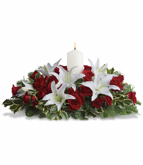 Luminous Lilies Centerpiece