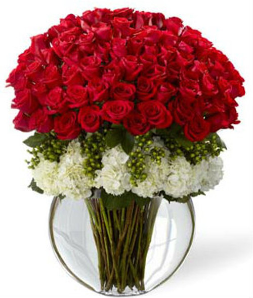 """Lavish""  Luxury Bouquet  - 75 Red Roses"