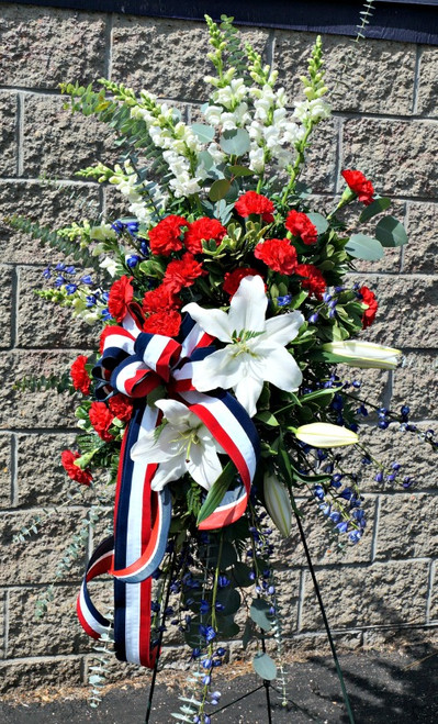 Red White & Blue Sympathy Easel