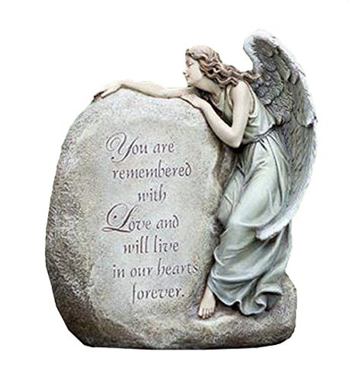 Forever in Our Hearts Memorial Angel Garden Statue
