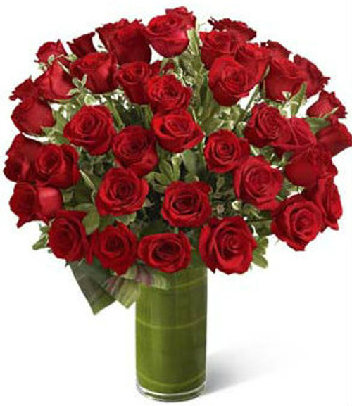 """Fate"" -  Luxury Bouquet - 48 Red Roses"