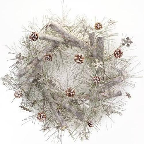 Birch Snowflake Wreath