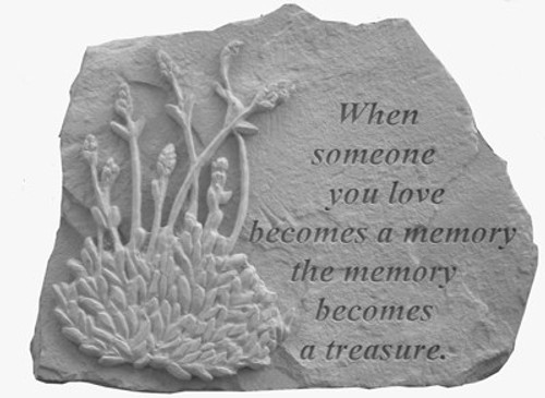 When someone you love with lavender... Memory Stone