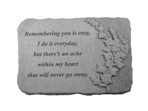 Remembering you is with ivy...Memory Stone