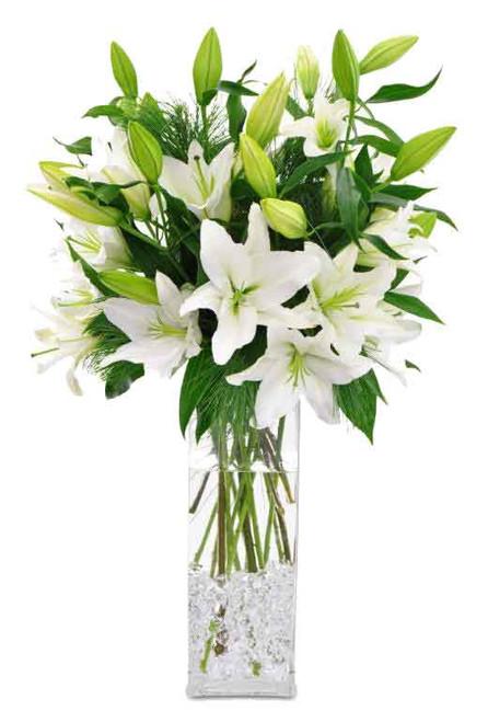 Winter White Lilies Bouquet