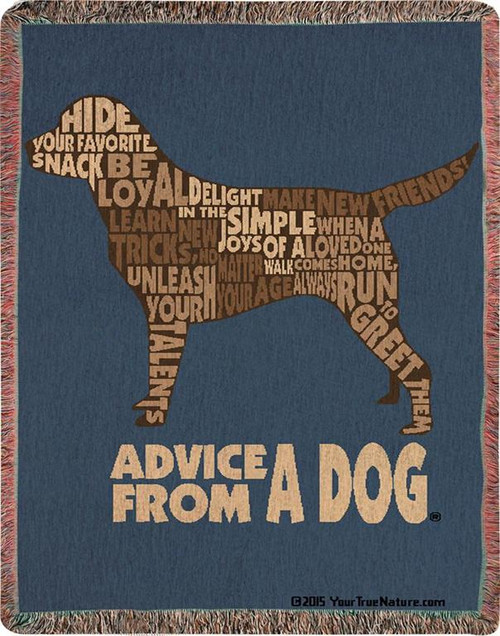 Advice From a Dog Tapestry Throw Blanket