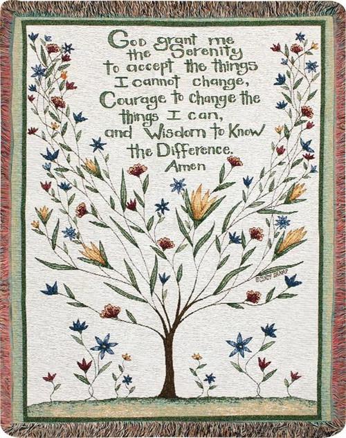 Serenity Prayer Memory Throw Blanket