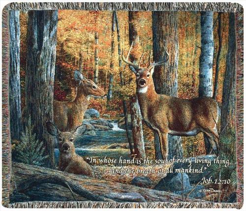 Broken Silence Rustic Deer Memory Throw Blanket