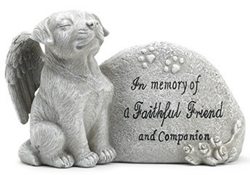 Memorial Plaque with Dog