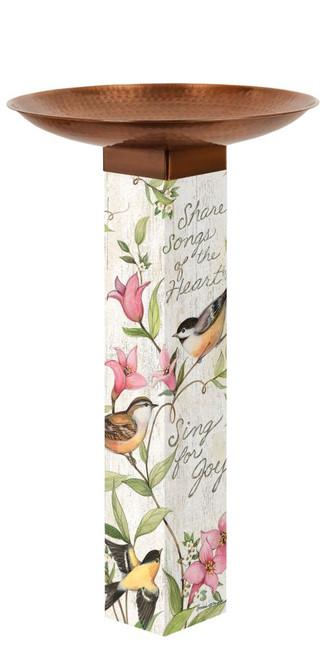 Sing for Joy  Bird Bath Art Pole