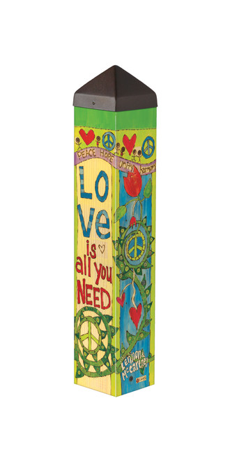 """Love is all You Need 20"""" Art Pole"""
