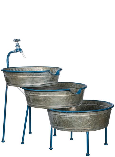 Three Bucket Garden Fountain ~ by Sullivans Home & Garden
