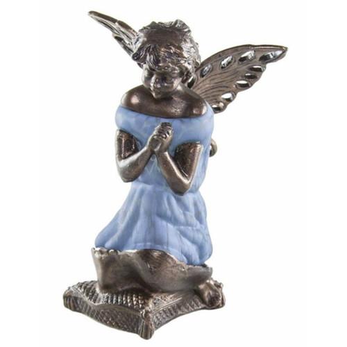 "8.5""  Glass Angel Lamp"