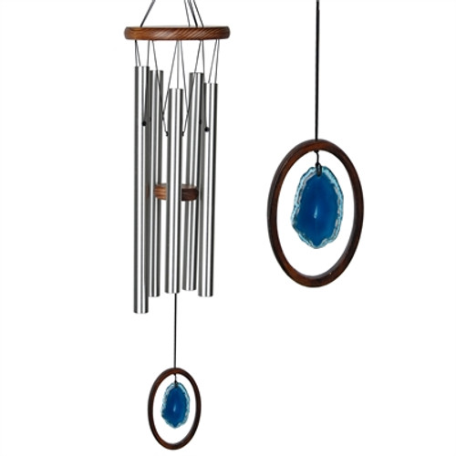 Agate Wind Chime by Woodstock -LARGE BLUE