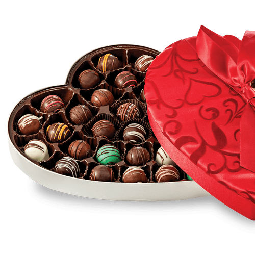 Fancy Heart Box with a  Assortment of Chocolates