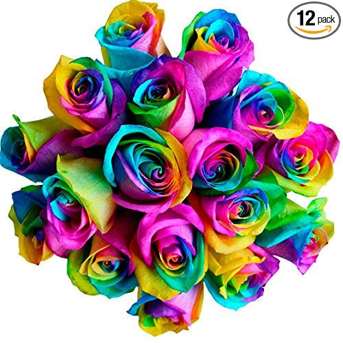 New Rainbow Roses  Bouquet