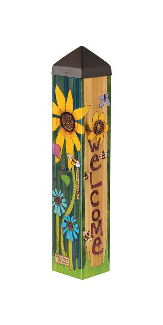 "Peace Garden 20""  Art Pole"