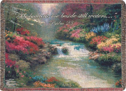 Beside Still Waters by Thomas Kincade Throw Blanket