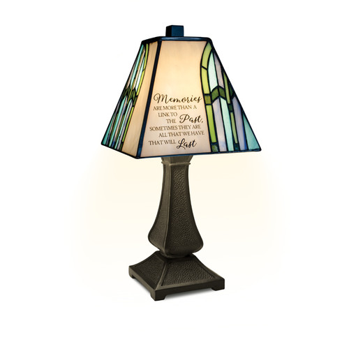 """""""Memories"""" Stained Glass Memorial Lamp"""