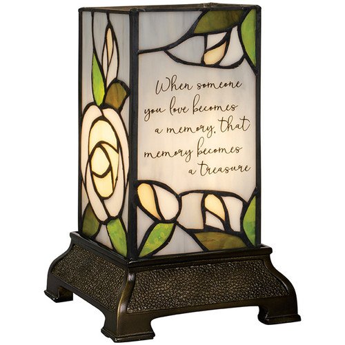 """""""Treasure"""" 6"""" Stained Glass Memorial Lamp"""