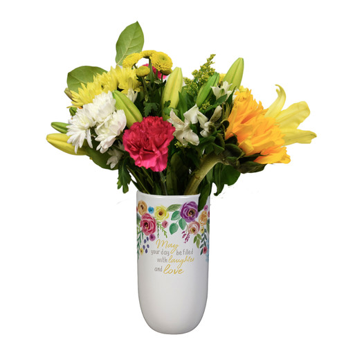 """""""Love and Laughter""""  Vase"""