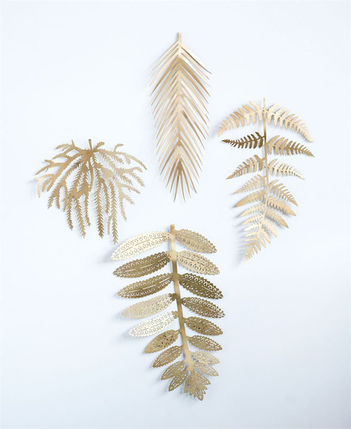 Metal Leaf, Antique Brass Finish, 4 Styles