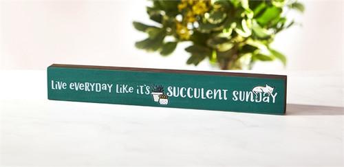 Succulent Sunday Skinny Sign