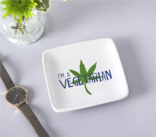I'm a Vegetarian Trinket Dish