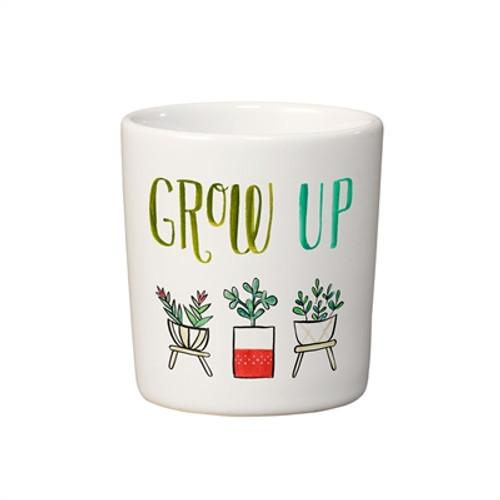 """Grow Up!"" Mini Planter"