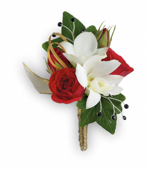 Custom -Made Star Studded Corsage Boutonniere