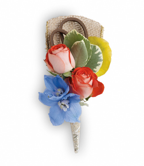 Custom -Made Barefoot Blooms Corsage Boutonniere