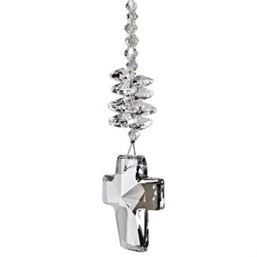 Crystal Brilliance Cascade Suncatcher - Cross