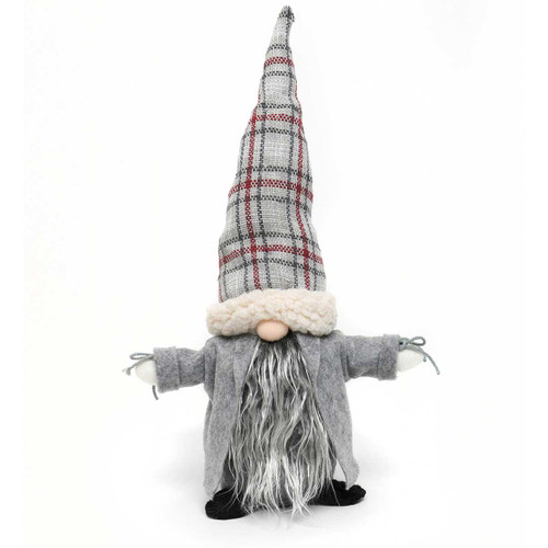 """17"""" NILS GNOME WITH PLAID HAT"""