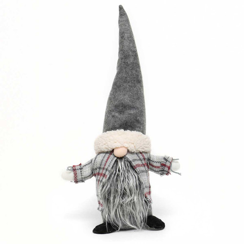 "17"" NILS GNOME WITH PLAID CAPE"