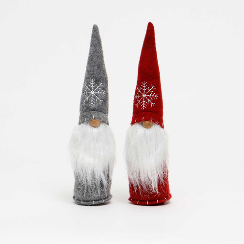 """11"""" GNOME WITH SNOWFLAKE HAT"""