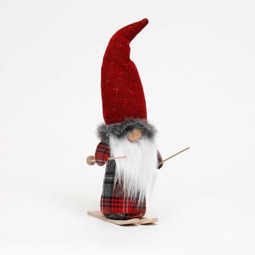 "16"" Plaid Gnome on Ski's"