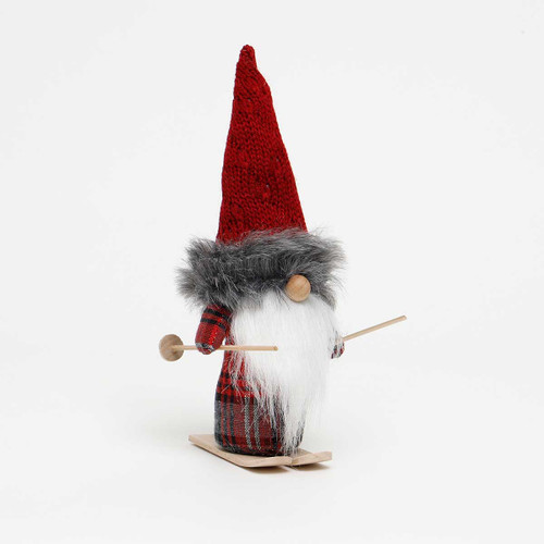 """11"""" KARL GNOME WITH SWEATER AND SKI'S"""