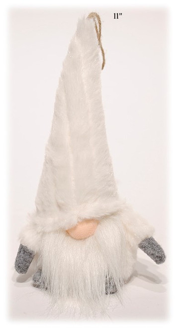 """11"""" Gnome with White Fur Hat"""