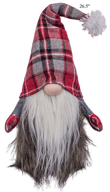 "26"" Fur Plaid Gnome"