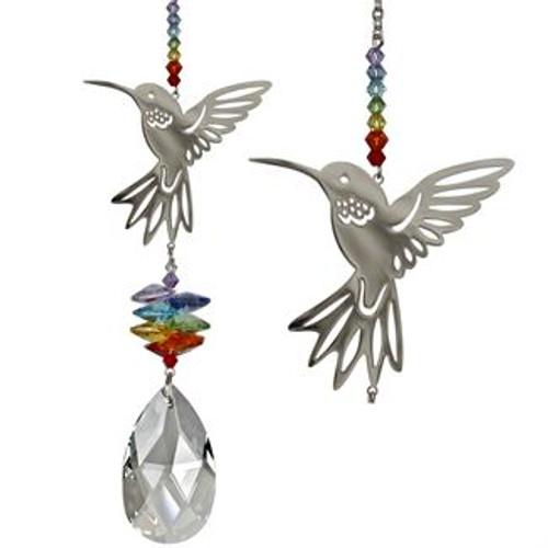 Crystal Fantasy Suncatcher - Large, Hummingbird