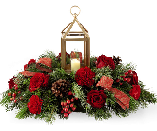 """""""I will be home for Christmas"""" Lantern Centerpiece"""