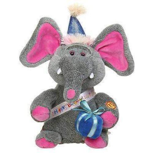 "9"" Singing Jazzy Birthday Elephant"
