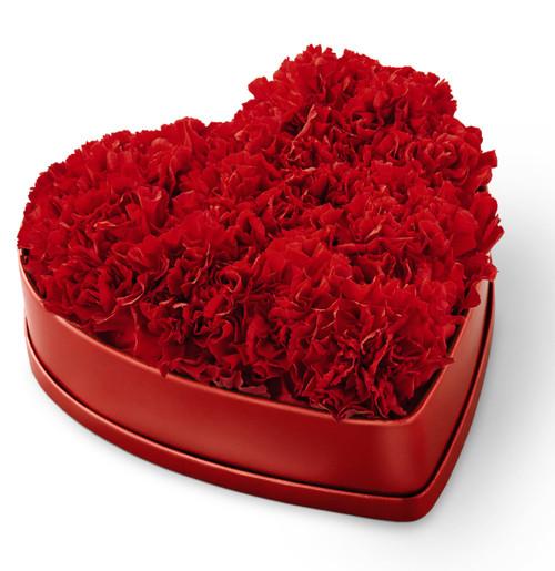 Heartfelt Carnation Heart Box