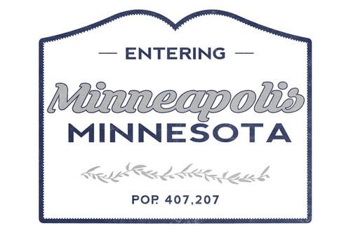 TOWEL Minneapolis, Minnesota Now Entering Blue