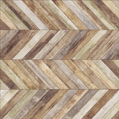 Wood Herringbone Vinyl Coaster -Set of 6-Lakri_O