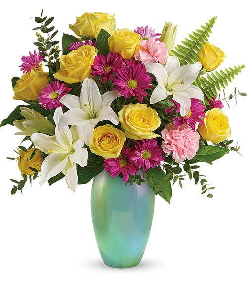 Enamored with Aqua Bouquet