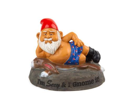 The Sexy and I Gnome It Garden Gnome