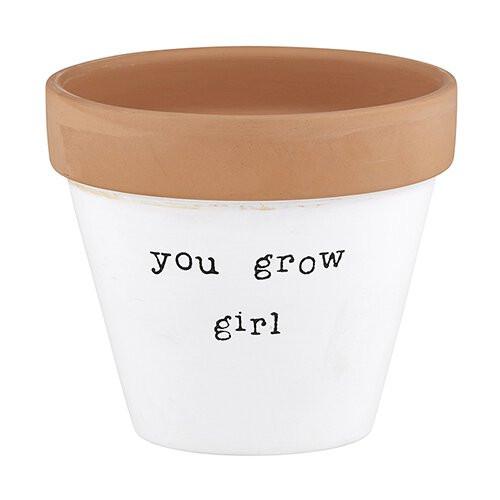 """You Grow Girl"" Planter"