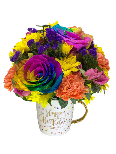 Party Pop! Birthday Mug Bouquet