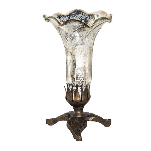 Handpainted Single Lily Lamp - Silver - PRE-SALE ONLY